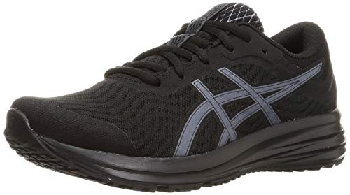 Asics Patriot 12, Zapatos para Correr Mujer, Negro (Black/Carrier Grey), 39.5 EU