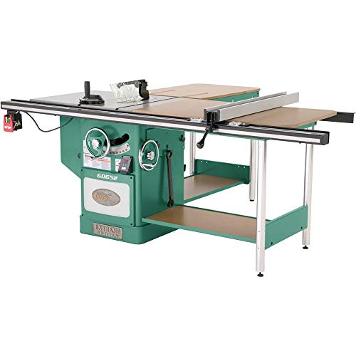 "Grizzly Industrial G0652-10"" 5 HP 3-Phase Heavy-Duty Cabinet Table Saw with Riving Knife"