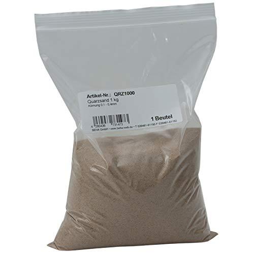 Quarzsand zum Abstreuen von Gießharz oder als Filtersand für Filteranlagen 1 kg