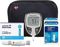 professional Kontur NEXT EZ Diabetes Diagnostic Kit | Glucose Meter ContourNEXT EZ, 100 Contour NEXT…