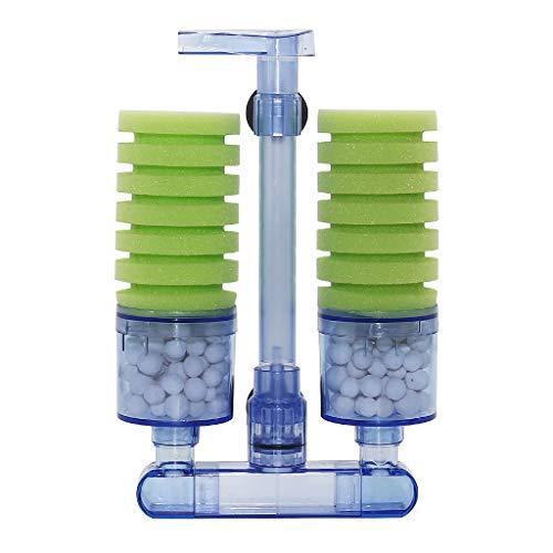 boxtech Aquarium Filter, Zubehör für Aquarium Filter, leiser Biorb Filter für kleine und große Aquarien (Double Sponge Green)
