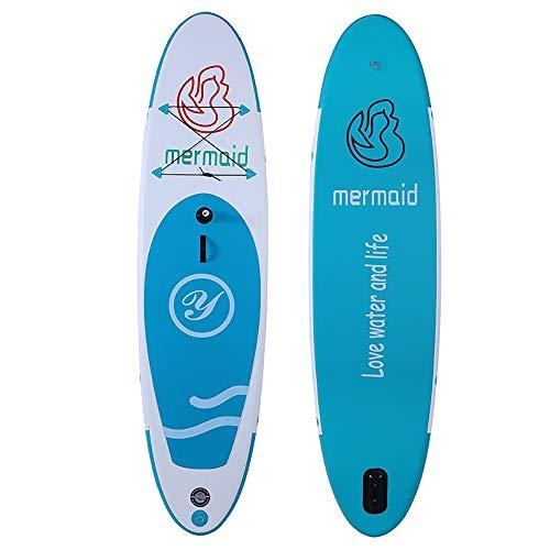 NgMik Tabla De Surf Inflable Inflables Stand Up Junta Tabla De Surf Sup Paddle con Carry Bag Manual De Reparación De La Bomba Kit Extraíble Fin Estable (Color : Blue, Size : 320x80x10cm)