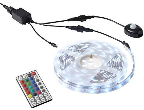 Northpoint LED Lichtschlauch Strip 5m mit Bewegungsmelder und Fernbedienung Outdoor Außenbereich Farbwechsel IP67 Strahlwassergeschützt
