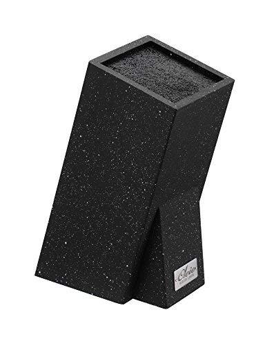 OLEIO Universal Holz Messerblock mit Marmorbeschichtung (schwarz)