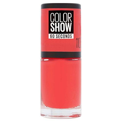 Maybelline Color Show 110 Urban Coral - esmaltes de uñas (Rojo, Urban Coral, Francia)