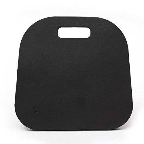 Skyoo Lot de 2 coussins de siège en mousse à mémoire de forme pour événement sportif avec poignée de transport pour bateau, stade, blanchisseur, chaise (noir)