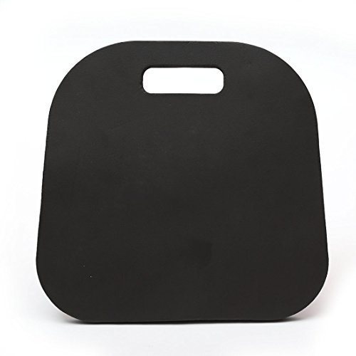 Moonvvin Foam Seat Cushion Foam Kneeling Pad with Carry Handle for Outdoors Sports Yoga Car 34 * 33 * 2CM (Black)