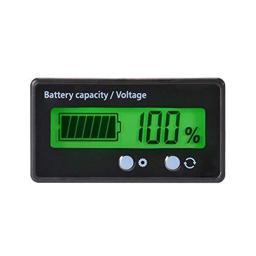 バッテリーモニター バッテリーチェッカー バッテリー電圧計 残量計 LCD表示 埋め込みタイプ 前面2ボタン 1...