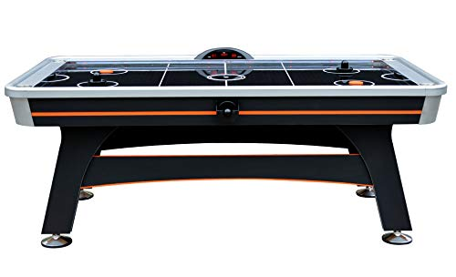 Hathaway Trailblazer 7' AIR Hockey Table, Black/Orange