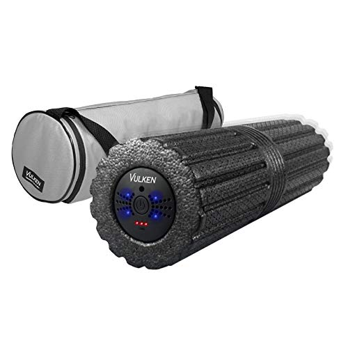 "Vulken 4 Speed High Intensity 17"" Vibrating Foam Roller Deep Tissue Massager for Muscle Recovery"