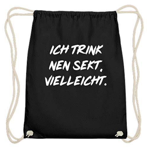 Ich Trink Nen Sekt, Vielleicht! - Lustiges Spruch Motiv - Schlichtes Und Witziges Design - Baumwoll Gymsac
