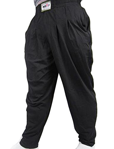 Musclealive Mens Gym Baggy Pants for Bodybuilding Cotton and Spandex - Noir - Taille 2XL,XXL,Noir