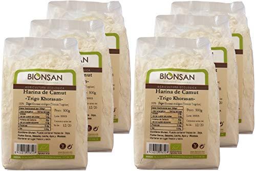Bionsan Harina de Camut Ecológico - Trigo Khorasan - 6 paquetes de 500 gr - Total 3000 gr