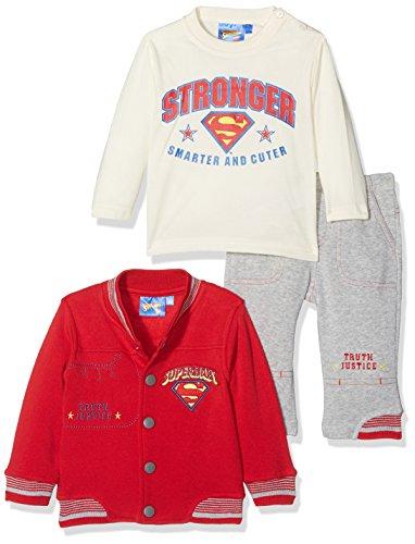 Superman Superbaby Smarter and Stronger Conjunto de Ropa, Rouge (Red), 6 Mes para Bebés