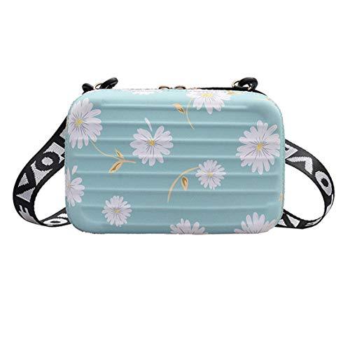 Chrysanthemum Hand Bags for Women Suitcase Shape Totes Fashion Mini Luggage Bag Women Clutch Bag Mini Box Bag