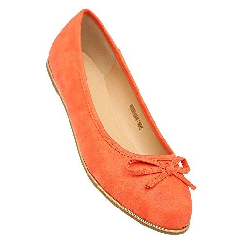 Allen Solly Women's Orange Ballet Flats - India