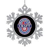 BEDKAGD Akira Kanedas Craft Ale Navidad colgante copo de nieve decoraciones de aleación, recuerdos de Navidad, decoraciones navideñas personalizadas.