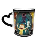 Anime Cartoon ceramica sensibile al calore cambia colore cielo stellato tazza caffè tazze 340,2 g divertente e magica (antiscivolo sul fondo della tazza)