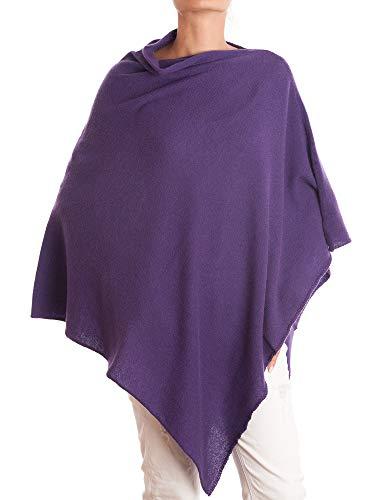 DALLE PIANE CASHMERE - Poncho aus 100% Kaschmir - für Frau, Farbe: Violett, Einheitsgröße