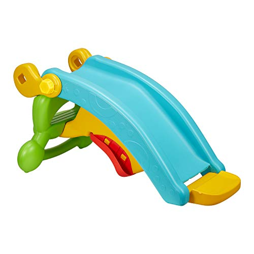 Image of kealive Toddler Slide, 2 in 1 Kids Play Slide Climber Indoor Backyard, 80lbs Ride on Toy Frog Balance Exercise for Children Age 1-3, Non-Toxic, Easy to Assemble