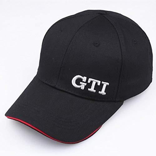 YIFEID Cap Herren Mode Exquisite Stickerei GTI Baseball Kappen Festes Waschmittel Baumwolle Dad Hüte LKW Fahrer Hut Unisex Schirmmütze Einstellen
