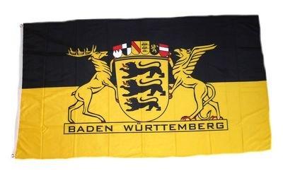 Fahne / Flagge Baden Württemberg Landessiegel 90 x 150 cm