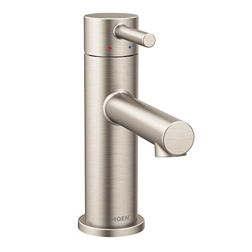 Moen 6190BN Align One-Handle Modern Bathroom Faucet with Drain Assembly and Optional Deckplate,...