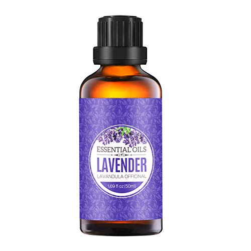 Homasy Lavender Essential Oil 50ml 100% Pure Aromatherapy Essential Oil for Diffuser and Humidifier Natural Essential Oil Useful for Spa Massage Hair Care Improve Sleep Relax