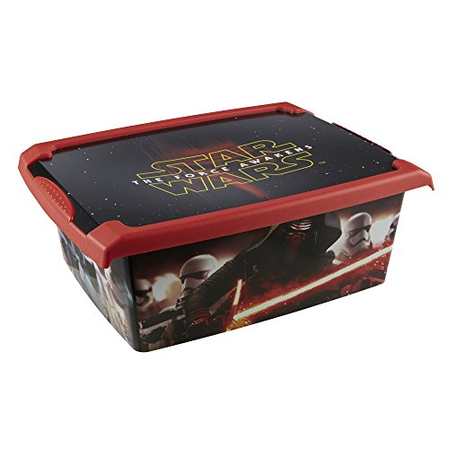 keeeper Star Wars Aufbewahrungsbox mit Deckel, 39 x 29 x 14 cm, 10 l, Filip, Schwarz