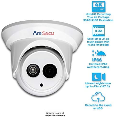 Same day shipping UltraHD 4K 8MP 2.8mm Turret PoE Night Special price for a limited time Security Day Camera IP