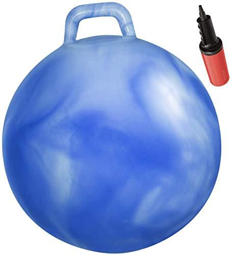 """WALIKI Hopper Ball for Kids 3-6   Hippity Hop   Jumping Hopping Ball   Sit & Bounce Ball   Blue 18"""""""
