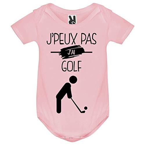 LookMyKase Body bébé - J Peux Pas j AI Golf - Bébé Fille - Rose - 6MOIS