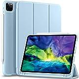 Vobafe Funda Compatible con iPad Pro 11 2020 y 2018, Funda Protectora de TPU con Portalápices para iPad Pro de 11 Pulgadas, Compatible con Segunda Generación Pencil, Protección Completa, Azul Claro
