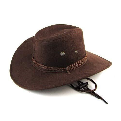 WAZHX Llegada Hombres Mujeres Sombrero De ala Grande Sombrero De Vaquero para Hombre Sombreros Sombrero Al Aire Libre Sunbonnet Moda Casual Regalo De Padre Brown60Cm