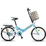 Bicicletas De Montaña Bicicleta Plegable Bicicleta Plegable para Adultos De 20 Pulgadas Velocidad Ultraligera Bicicleta Portátil para IR Al Trabajo Viaje A La Escuela Bicicleta Plegable Rápida (Color