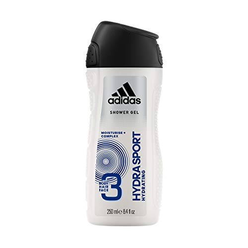 Adidas Sport Sensation Hydra Sport 3in1 Body, Hair and Face Shower Gel for Men, 250ml