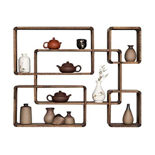 Estantes flotantes, estante de pared, estantes flotantes de madera en la pared montados en el estante Multi organizador de almacenamiento Piedra de presentación (color: a) kyman (Color : B)