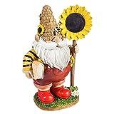 Bienenzwerg Ornament Figur, Frühlingswichtel, Gonk, Sonnenblume, skandinavischer Zwerg, Welt, Bienentag, Kunstharz, Zwerg-Statue, Kunst, Gartenzwerg