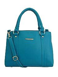 Lapis O Lupo Womens Handbag(Turquoise, LLHB0013TQ)