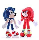 Hzong 2Pcs / Set 25-28Cm Juguete De Peluche Sónico Amy Rose Sonic-Shadow-Silver The Hedgehog Tails K...