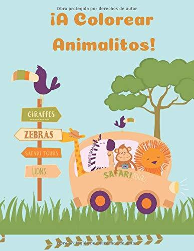 ¡A Colorear Animalitos!: 50 Dibujos de Animales | Libro para Aprender a Dibujar y Colorear | Niños y Niñas a Partir de 1 año | Cuaderno de Actividades