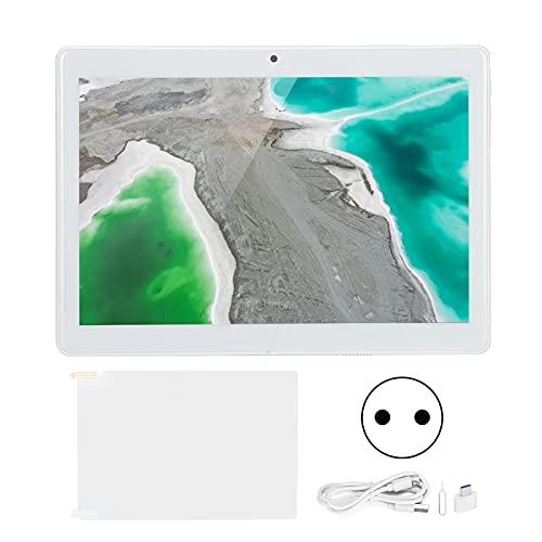 KIKYO Tablet PC de 10.1 Pulgadas, 32GB ROM Octa-Core CPU 4G Silver LTE Tablet con batería incorporada para estudiar, Jugar, Trabajar 100‑240V(Enchufe de la UE)