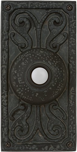 "Craftmade PB3037-WB Designer Surface Mount Lighted Doorbell LED Push Button, Weathered Black (5.25""H x 2.63""W)"