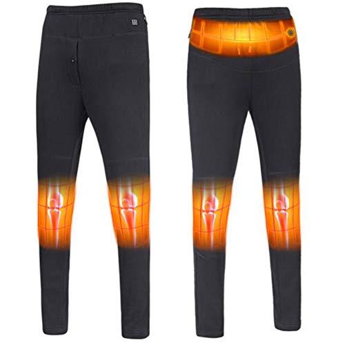 Pantalones calefacción eléctrica USB, Pantalones Caliente Invierno con calefacción 3 Films, Alta...