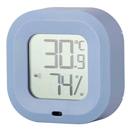 Toasses Smart Thermometer Hygrometer for Bluetooth Indoor Temperature Humidity Monitor for Home Garage Greenhouse(Blue)