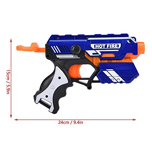 Dilwe Soft Bullet Toy Gun, ABS Gummi Geschosspistole mit Soft Sucker Round Head Bullets und Magazin Clip für Outdoor Indoor Party Game