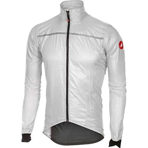 Castelli Chaqueta Cortavientos para/Rueda Chaqueta Superleggera Jacket, Weiss (100)