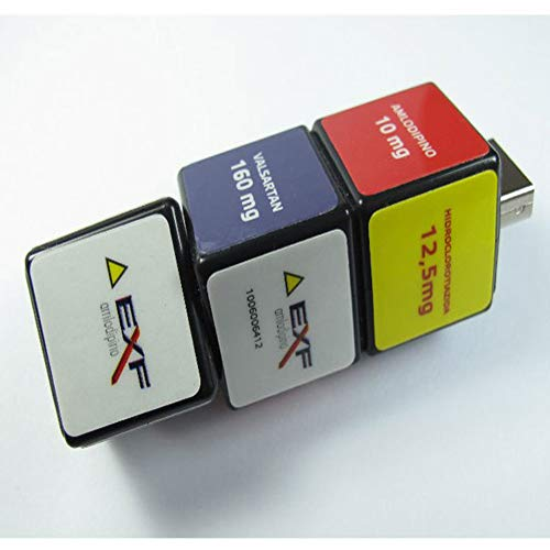 Memorias USB Unidad Flash USB Memoria Flash USB Dibujos Animados Estereoscópico Moda Simulación Cubo De Rubik Tipo Variable Encantador Creativo Multa Impresión (16GB)