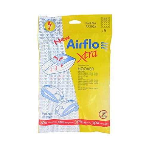 Airflo AF292X Sacs d'aspirateur SMS série Hoover Telios (Paquet de 5)