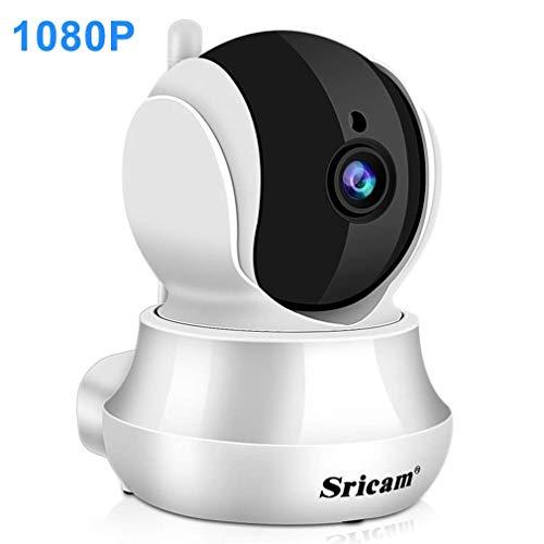 Sricam Wlan Kamera 1080P Wifi Überwachungskamera Innen Wlan Handy mit Nachtsicht, Bewegungserkennung, SP020